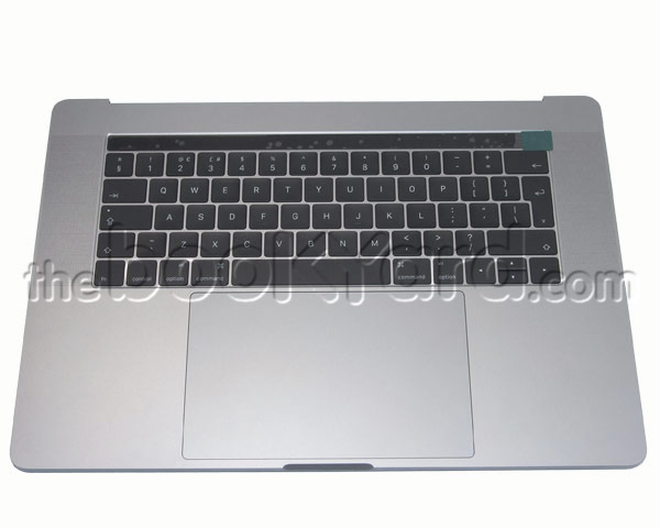 "MacBook Pro 15"" Top Case/Bat/TP Swedish - Space Grey (16/17)"