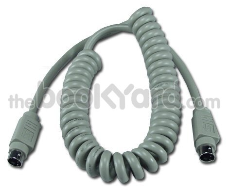 Apple ADB cable, coiled, short