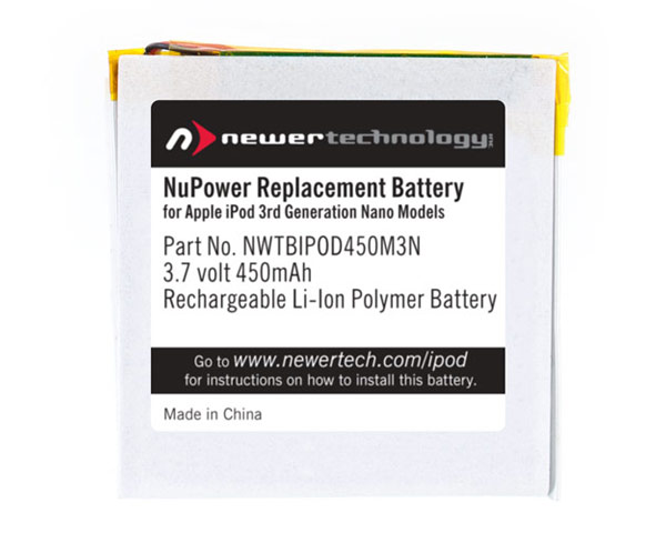 NewerTech iPod Nano 3rd Gen 450mAh battery