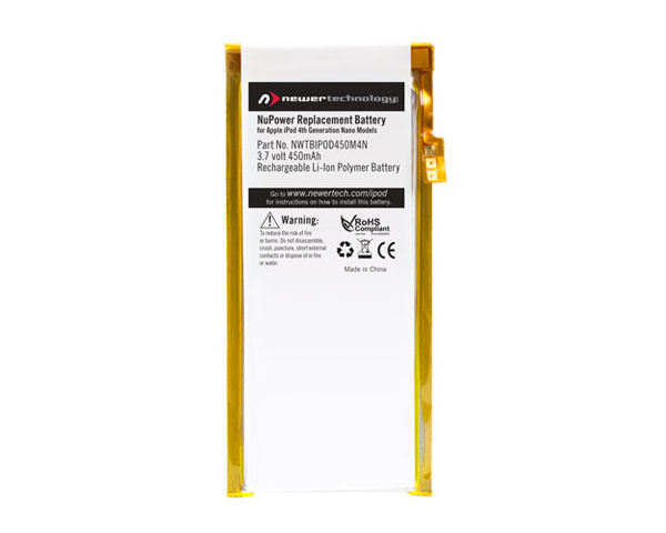 NewerTech iPod Nano 4th Gen 450mAh battery