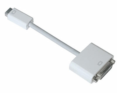 Apple mini-DVI to DVI display adapter cable