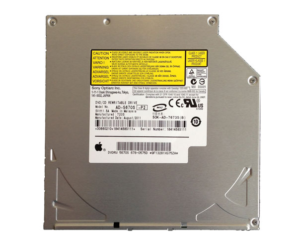 Sony Optiarc AD-5670S slimline SATA superdrive, Apple