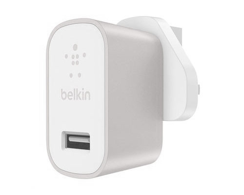 Belkin MIXIT 12W 2.4A USB charger, Silver UK