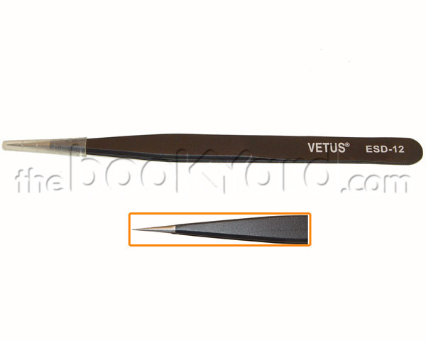Fine Point Professional Vetus Tweezers - ESD-12