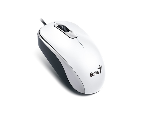 Genius DX-110 Full Size Optical Mouse - USB - White