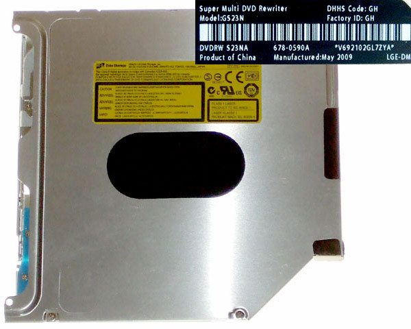 HL GS23N SATA super-slim superdrive, Apple