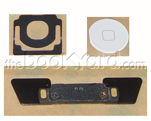 iPad 2 Home Button and Mounts - White