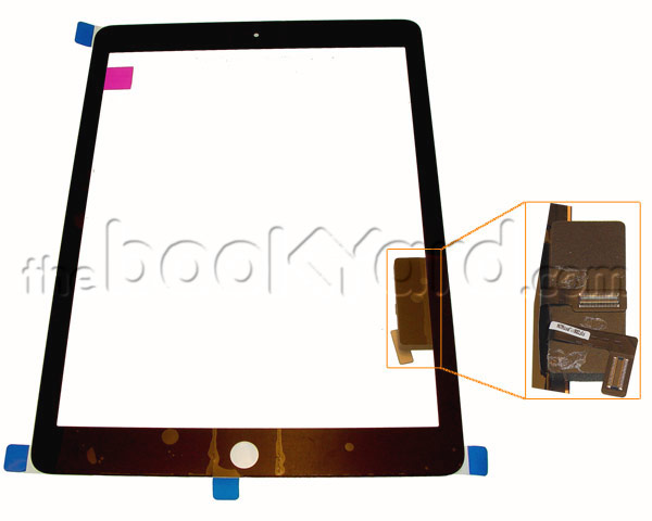 iPad Air Digitizer/glass With Tape - Black Original