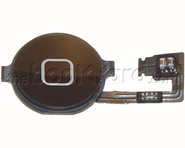 iPhone 4 Home Button Flex Cable with Button - Black