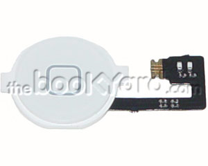 iPhone 4 Home Button Flex Cable with Button - White