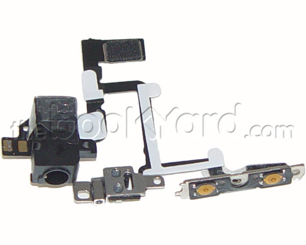 iPhone 4 Headphone Jack and Side Buttons Cable - Black