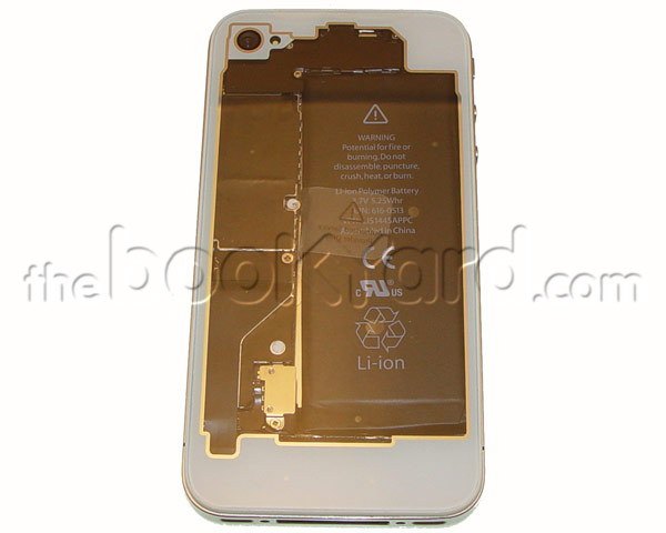 iPhone 4 Back Cover - White Transparent - 3rd Party Replacement