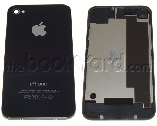 iPhone 4S Back Glass Cover - Black - Apple Original