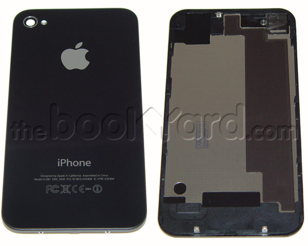 iPhone 4S Back Glass Cover - Black - 3rd Party Replacement