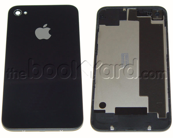 iPhone 4S Back Glass Cover - Black - 3rd Party (No Text)