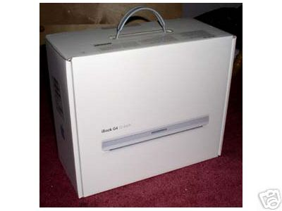 "Apple iBook G4 12"" computer Box"