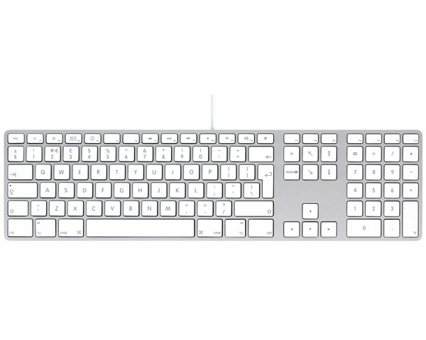 Apple aluminium keyboard, USB Extended UK