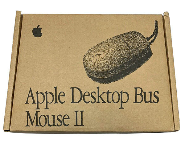 Apple Desktop Bus Mouse II, Platinum Boxes (ADB)