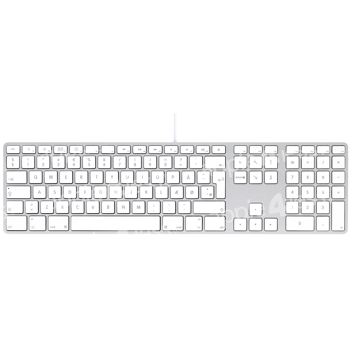 Apple Aluminium Keyboard, USB Extended, Danish