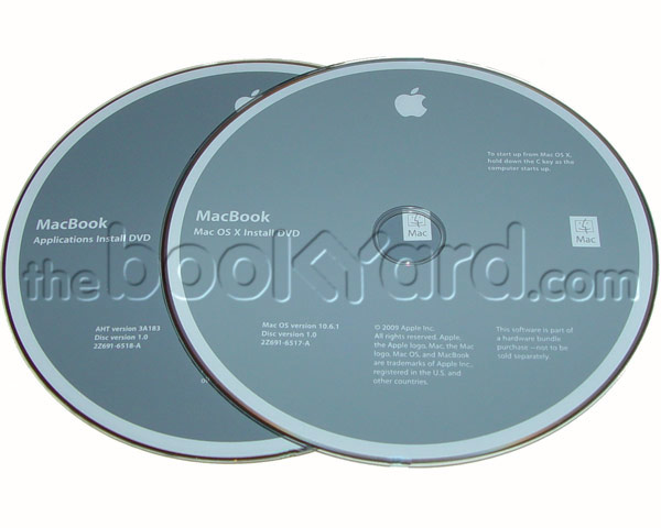 "Unibody MacBook 13"" 10.6.3 install disk set + manual"
