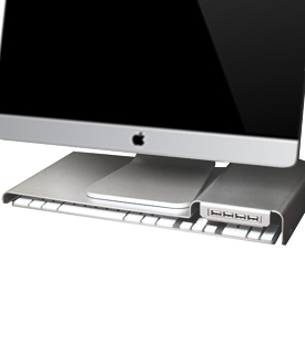 LowKey iMac Stand with USB 3.0 Hub