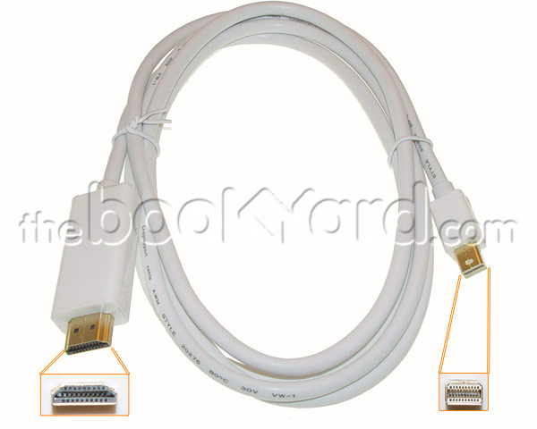 Mini DisplayPort to HDMI Cable with Audio (1.8m)