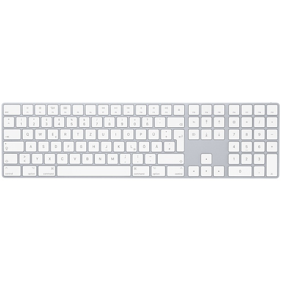 Apple Aluminium Keyboard, USB Extended, German