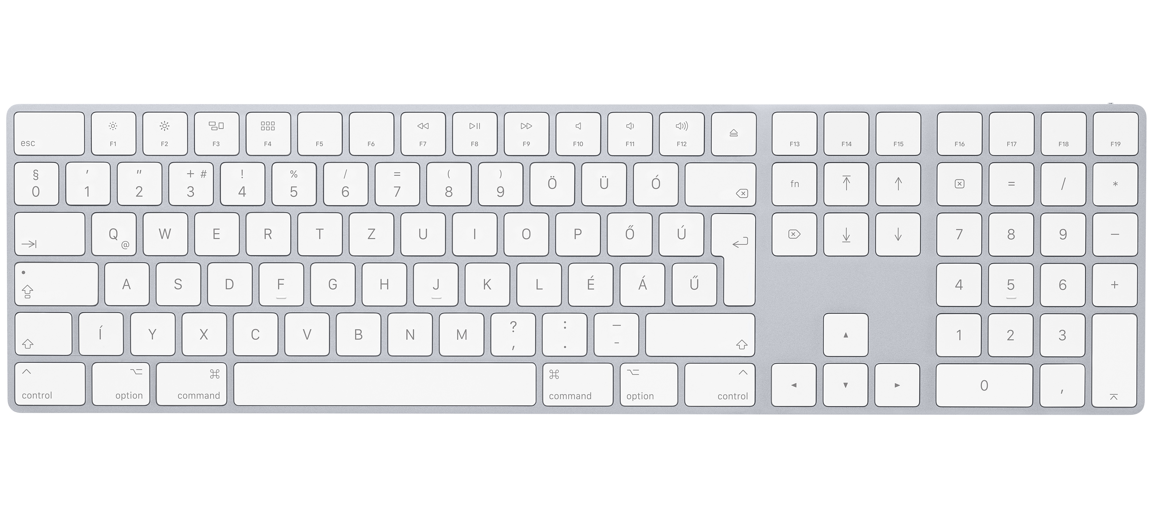 Apple Aluminium Wireless Bluetooth Keyboard, Hungarian (11)