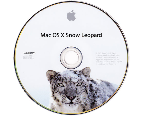 Mac OS X 10.6 - Snow Leopard CPU Drop-In DVD
