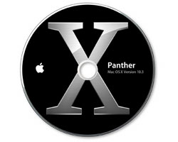MacOS X 10.3.5 iBook G4 Install CD set (4 disk)