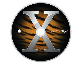 MacOS X 10.4.2 PowerBook G4 disk set & manual (2 disks)