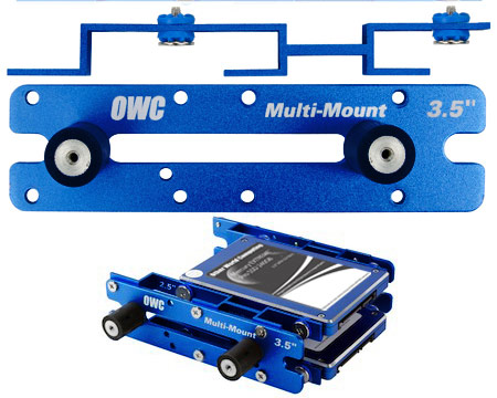 "OWC Multi-mount 2.5"" to 3.5"" (x2) and 3.5"" to 5.25"" bracket set"