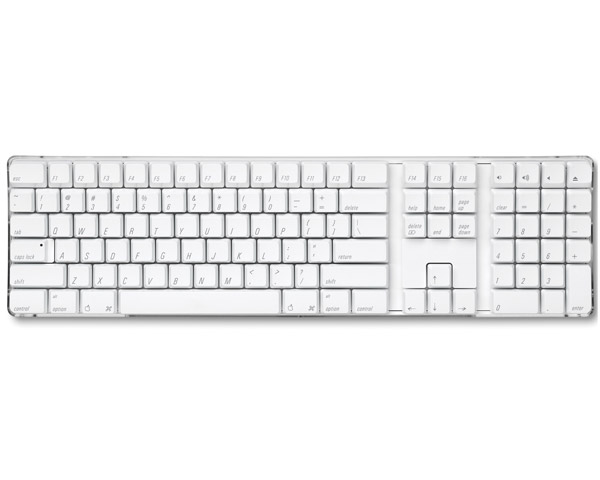Apple White Wireless Bluetooth Keyboard - British