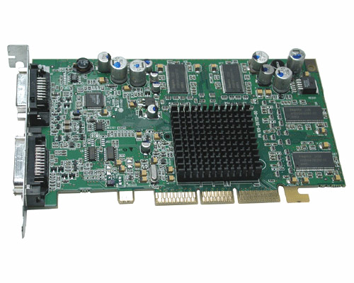 ATI Radeon 9000 AGP video card with DVI & ADC outputs
