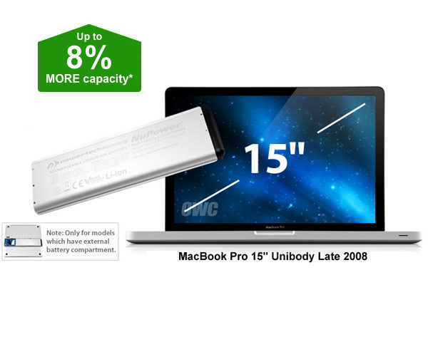 "NewerTech Unibody Macbook Pro 15"" Battery, 58Wh (Late 2008)"