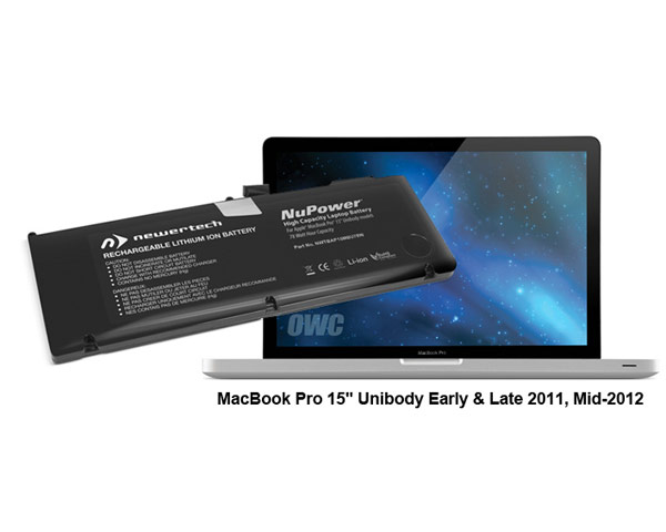 "NewerTech Unibody MacBook Pro 15"" Battery - 78Wh (11/12)"