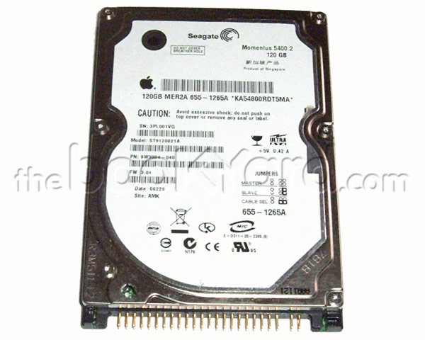 Apple branded 100GB ATA notebook hard disk, Seagate