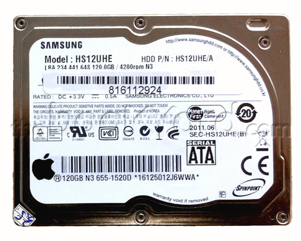 Macbook Air Hard Drive - Samsung 120GB SATA LIF (Apple) 661-4751 HS12UHE