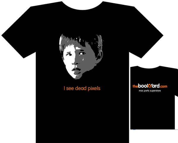 I see dead pixels, premium weight Bookyard T-Shirt