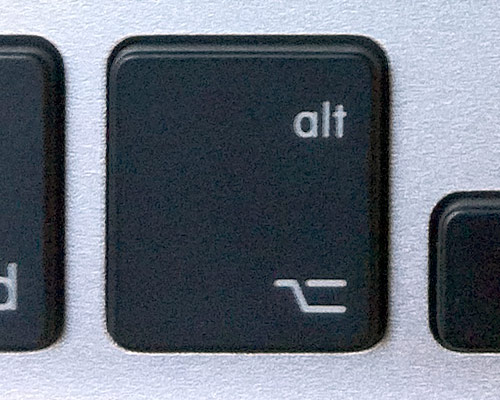 Alt (Option) right (symbol) MacBook/MacBook Pro Unibody (Type-G)
