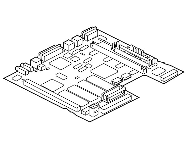 Macintosh LC III Logic Board, 25MHz