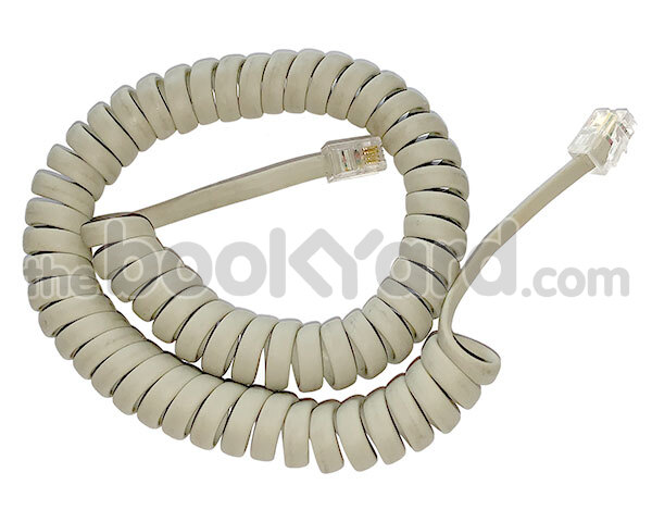 Macintosh keyboard cable, coiled, beige
