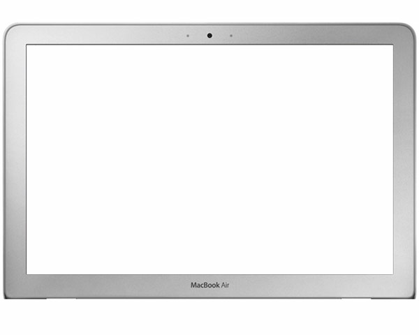 MacBook Air display bezel (08/09)