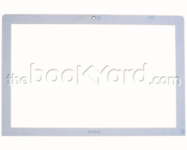 MacBook display bezel & clips, white