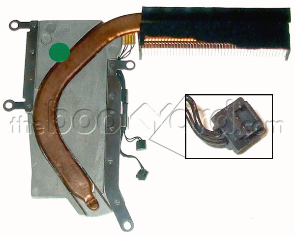 MacBook heat sink with thermistors (block connector)