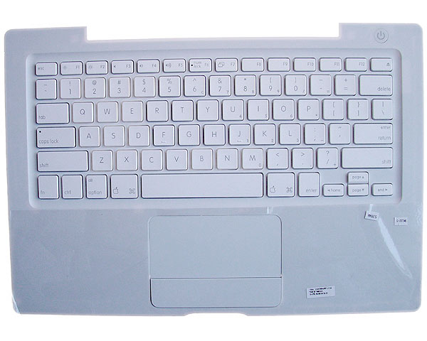 MacBook Top Case, Keyboard Danish (Silver Cable) White
