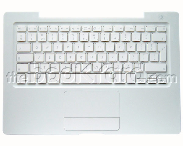 MacBook Top Case, Keyboard, UK (Silver Cable) White