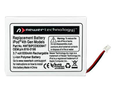 NewerTech iPod 4th gen 1200mAh battery
