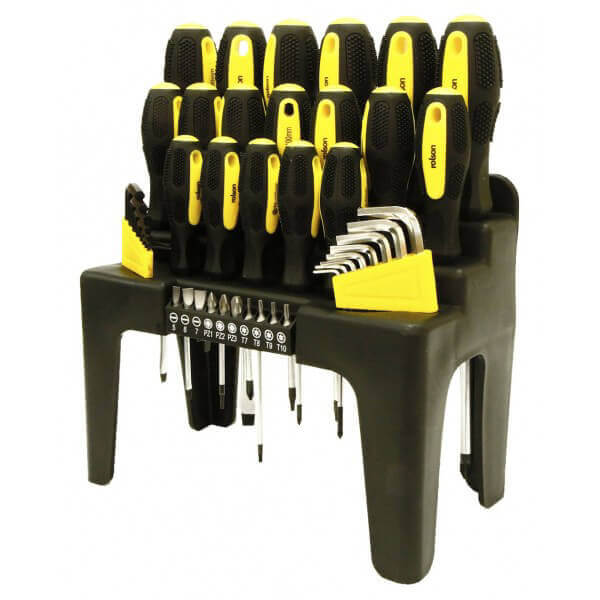 Rolson 44pc Desktop Screwdriver Set and Stand