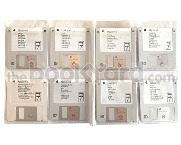 Apple System 7.0 floppy disk instal set (x8)
